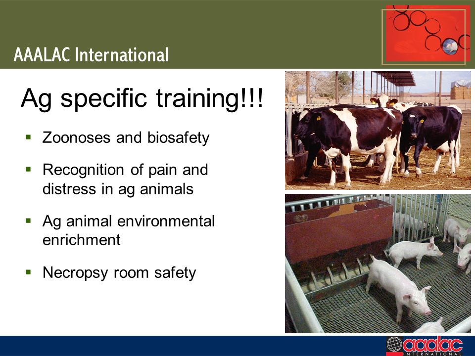 Ag specific training!!! Zoonoses and biosafety