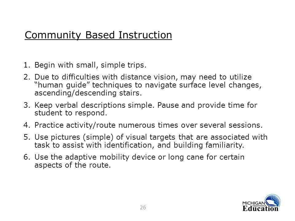 Community Based Instruction