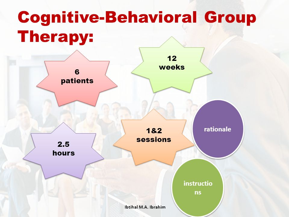 Cognitive-Behavioral Group Therapy: