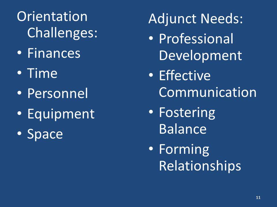 Orientation Challenges:
