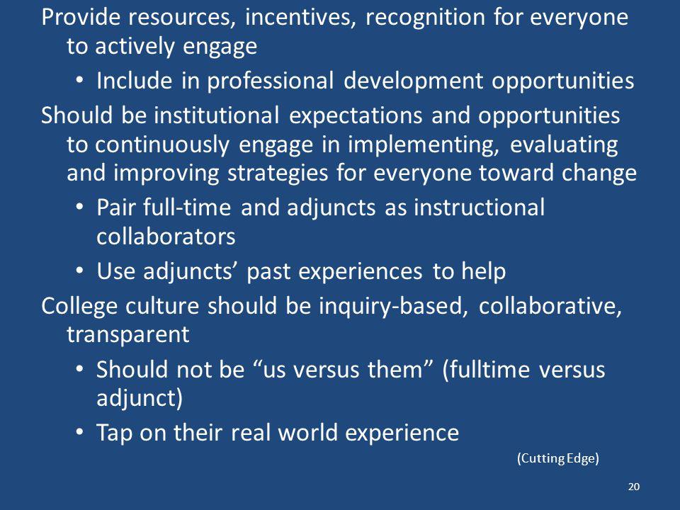 Include in professional development opportunities