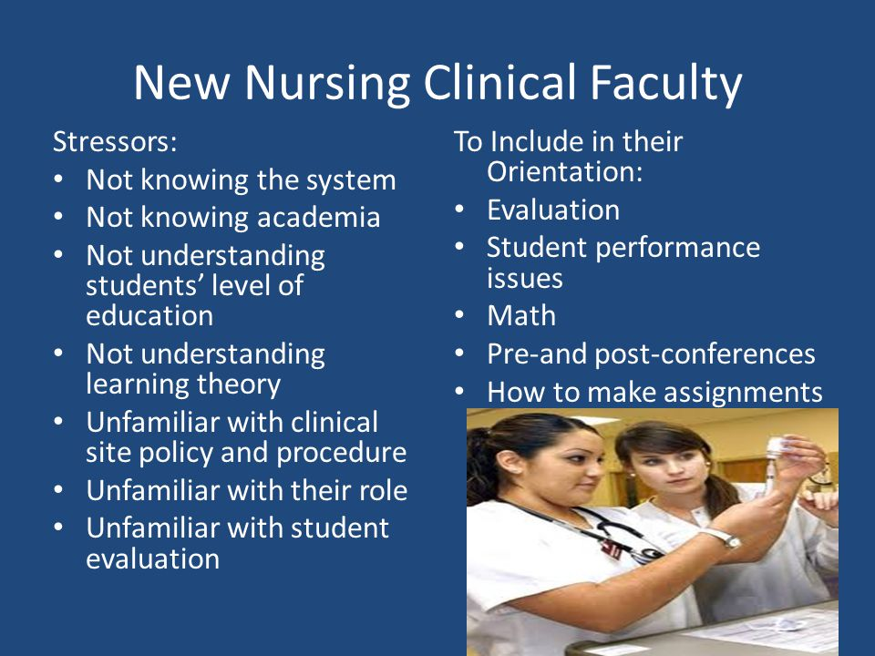 New Nursing Clinical Faculty