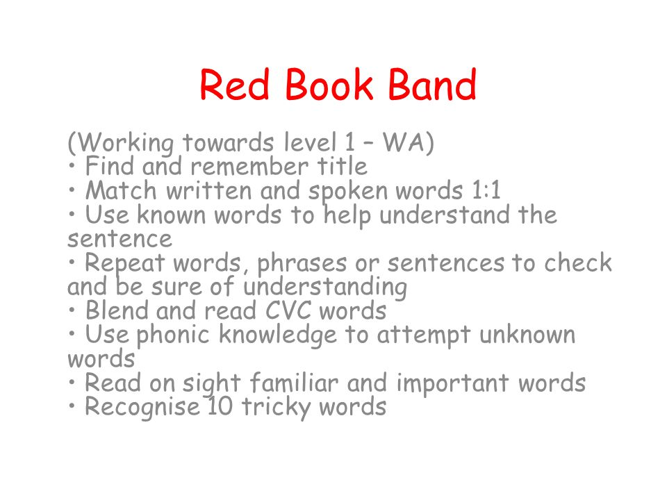 Red Book Band