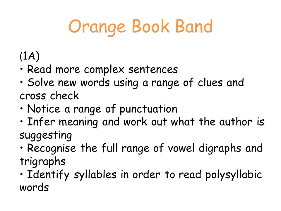 Orange Book Band
