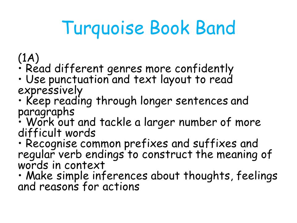 Turquoise Book Band