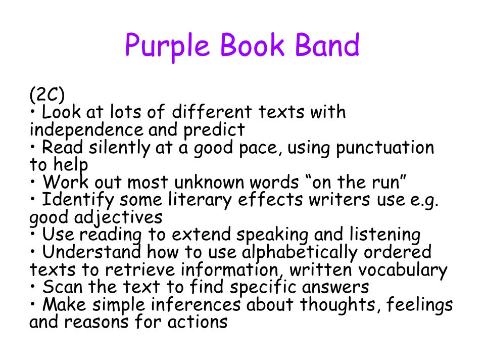 Purple Book Band
