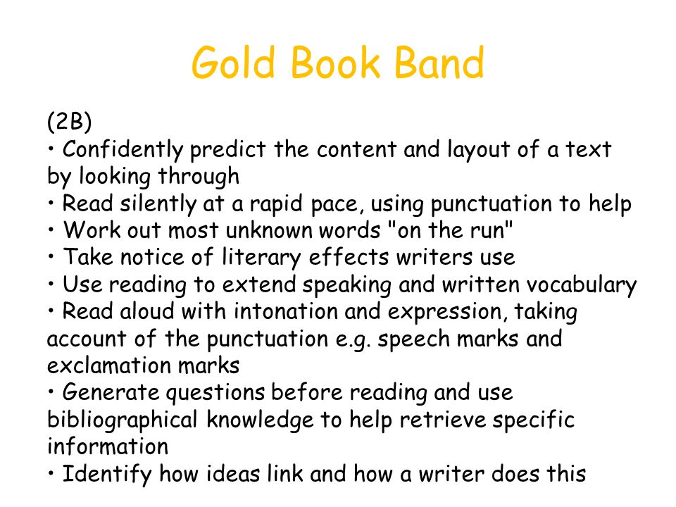 Gold Book Band