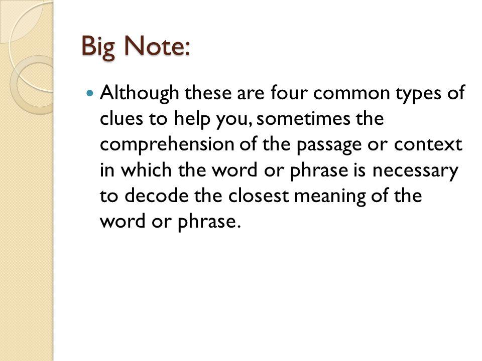 Big Note: