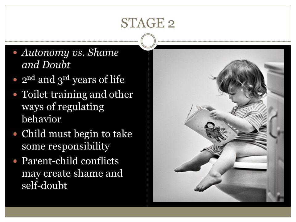 STAGE 2 Autonomy vs. Shame and Doubt 2nd and 3rd years of life