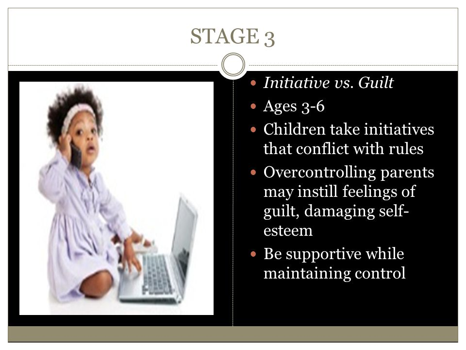 STAGE 3 Initiative vs. Guilt Ages 3-6