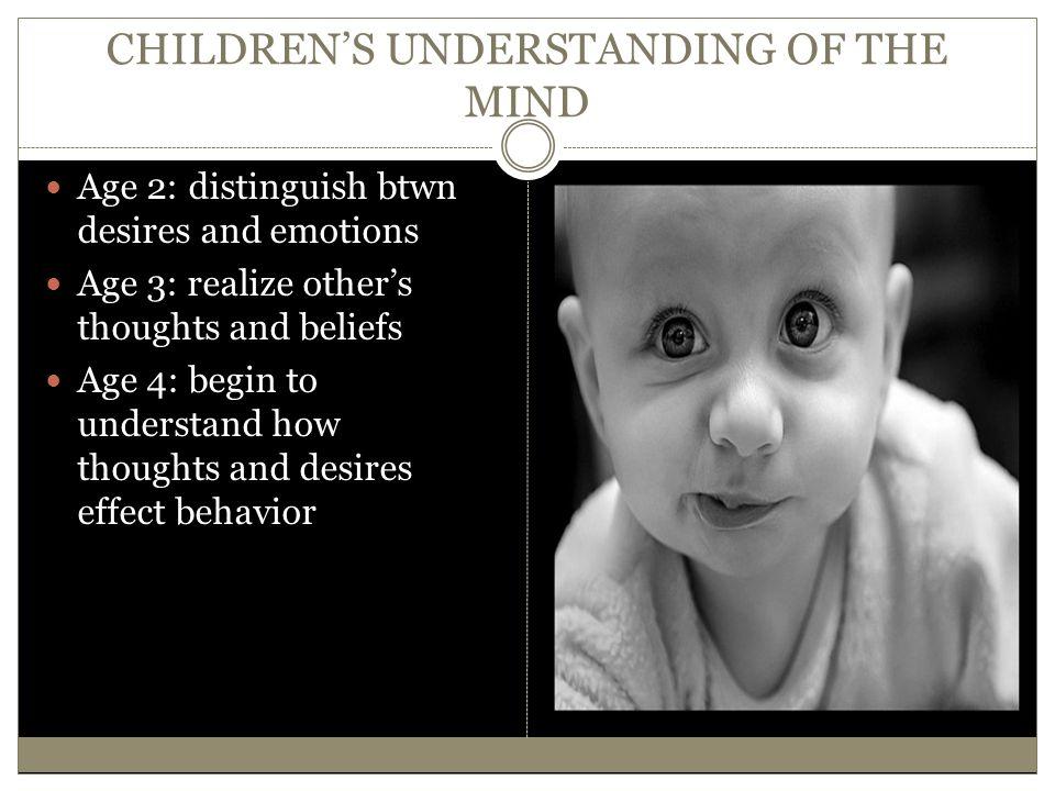 CHILDREN'S UNDERSTANDING OF THE MIND