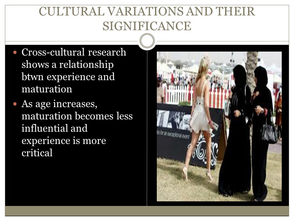 CULTURAL VARIATIONS AND THEIR SIGNIFICANCE