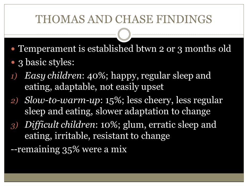 THOMAS AND CHASE FINDINGS