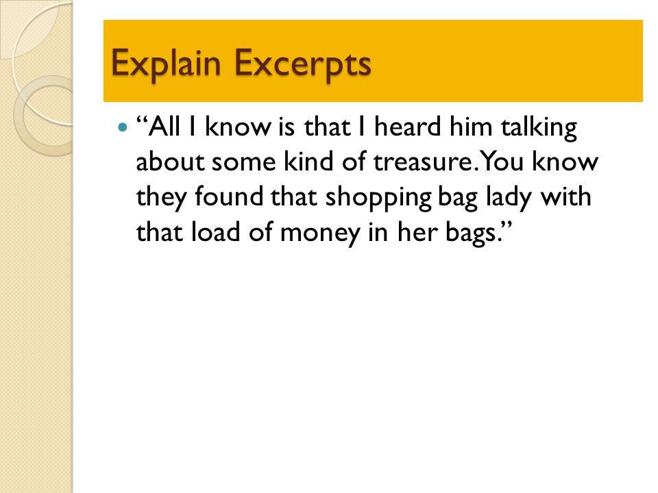Explain Excerpts