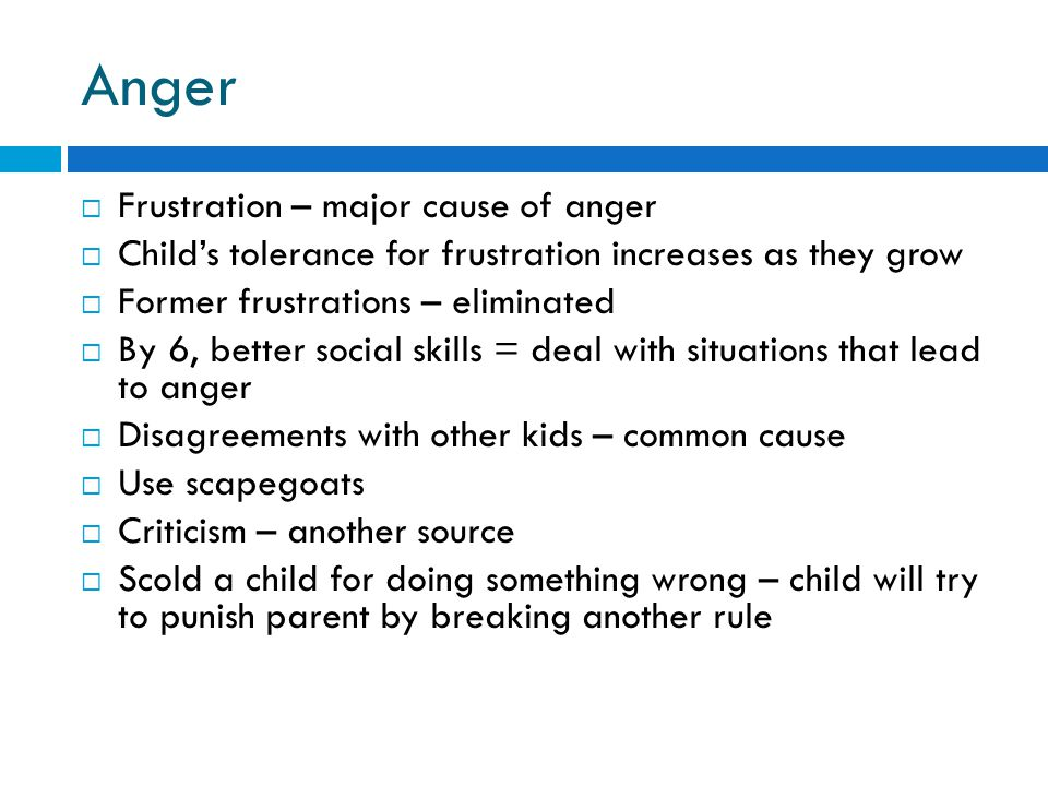 Anger Frustration – major cause of anger