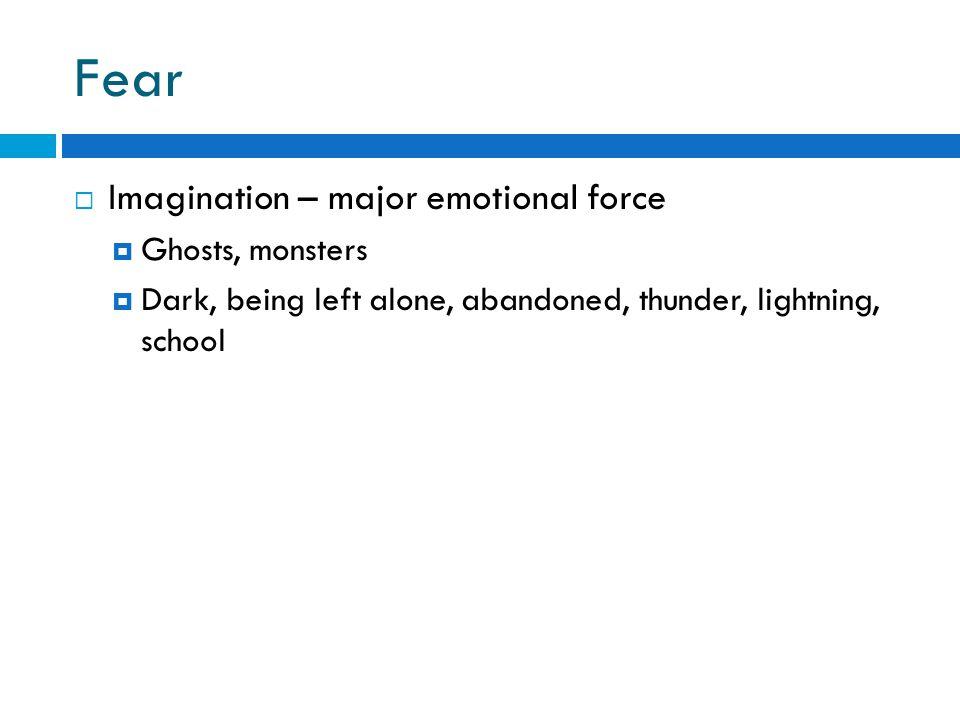 Fear Imagination – major emotional force Ghosts, monsters