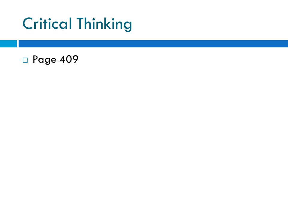 Critical Thinking Page 409
