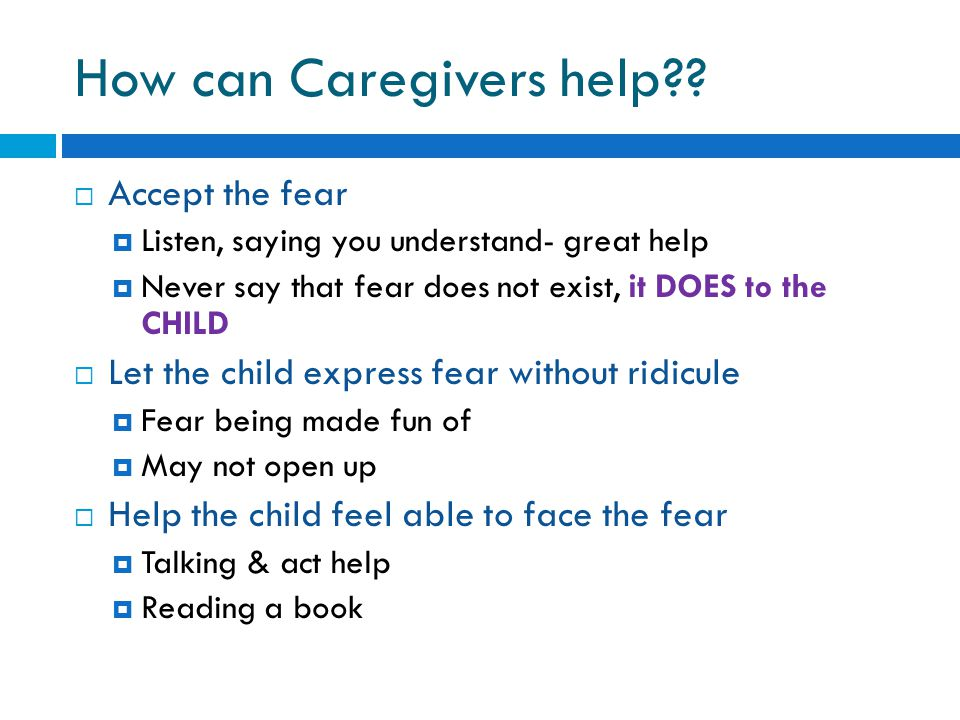 How can Caregivers help