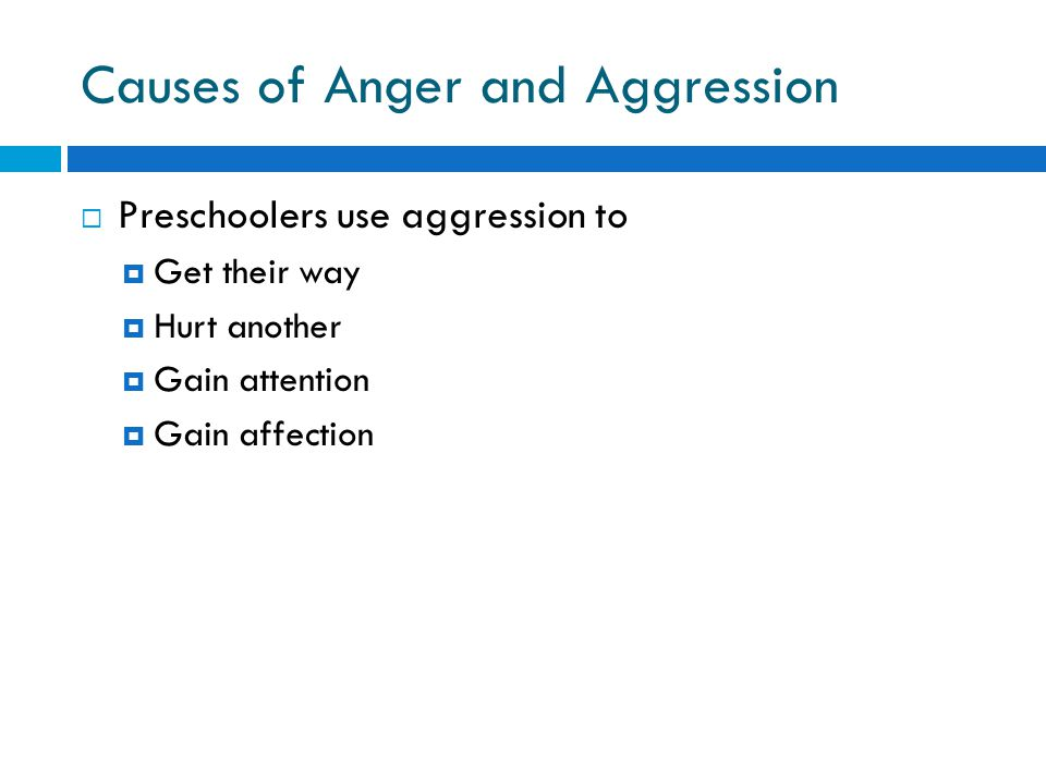 Causes of Anger and Aggression