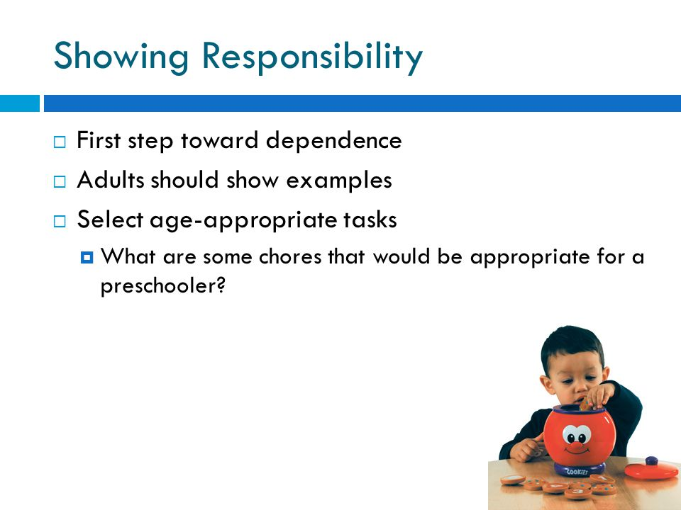 Showing Responsibility