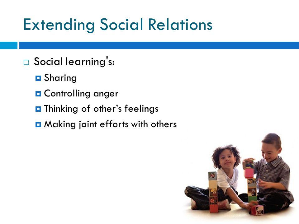 Extending Social Relations