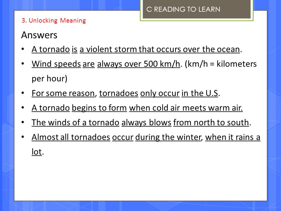 Answers A tornado is a violent storm that occurs over the ocean.