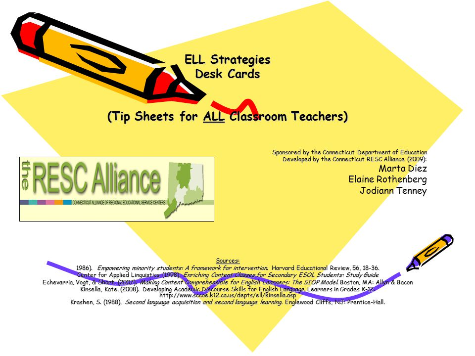 (Tip Sheets for ALL Classroom Teachers)