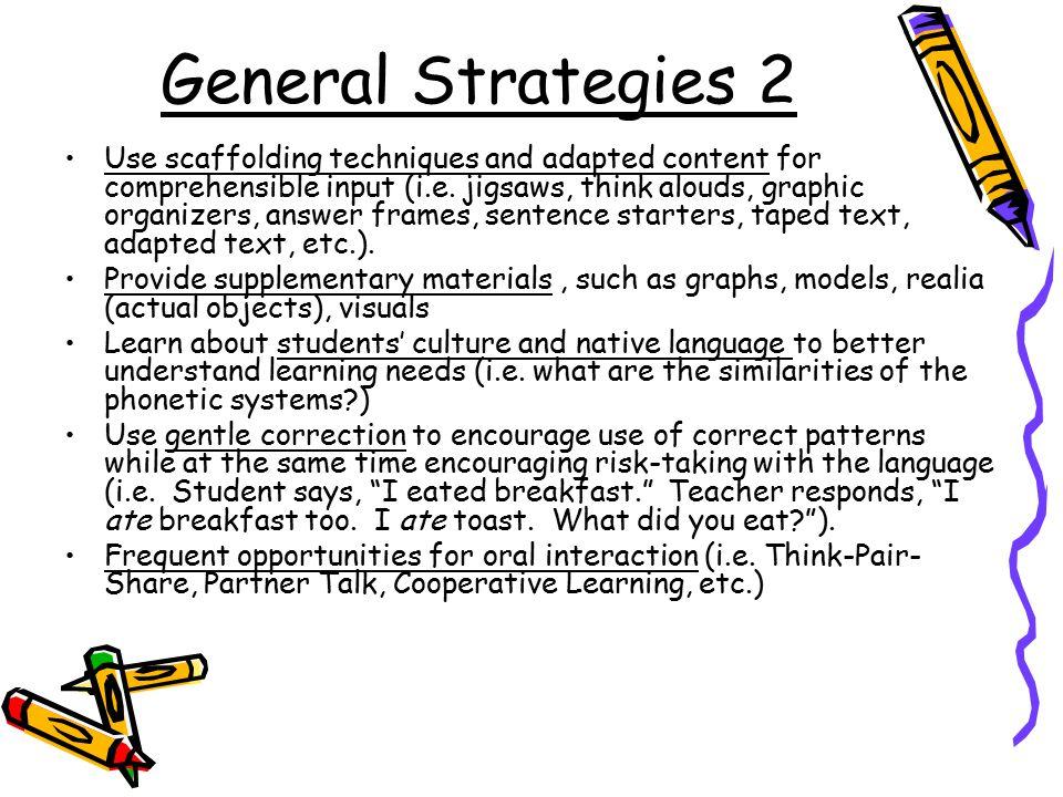 General Strategies 2