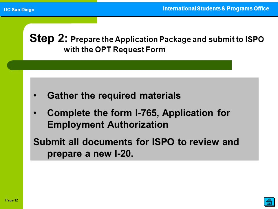Optional practical training opt application guide ppt download - International programs office ...