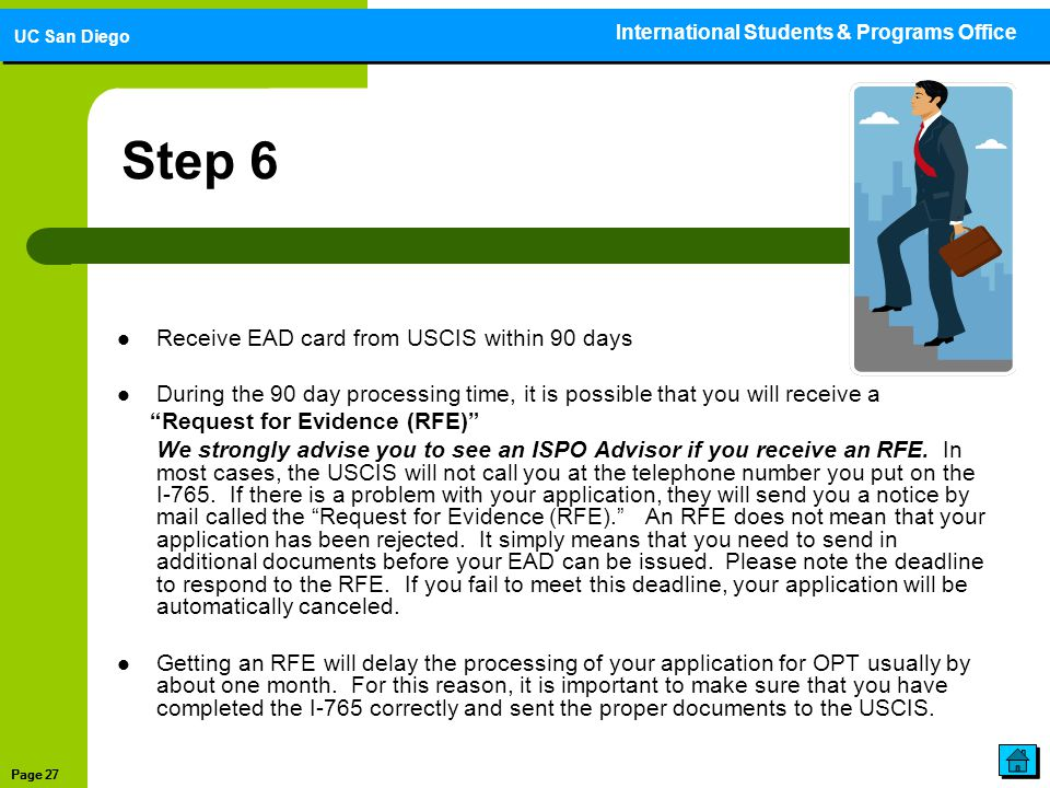 Step 6 Receive EAD card from USCIS within 90 days