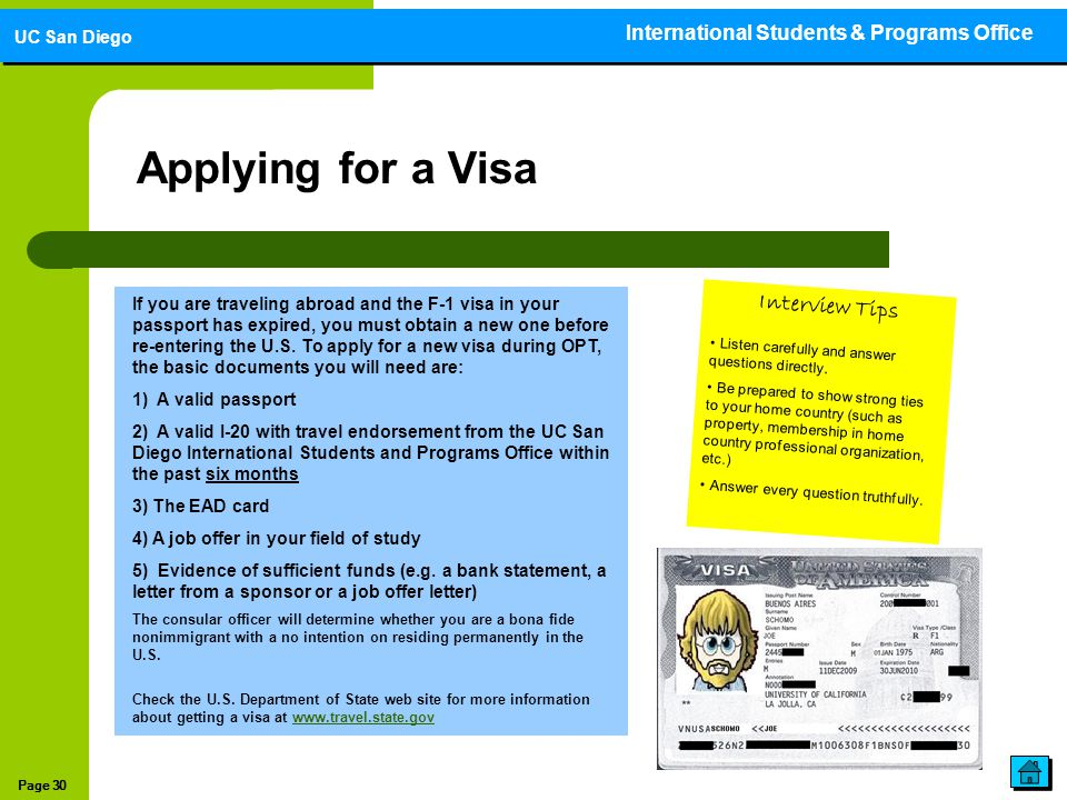 Applying for a Visa Interview Tips