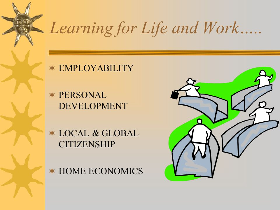 Learning for Life and Work…..