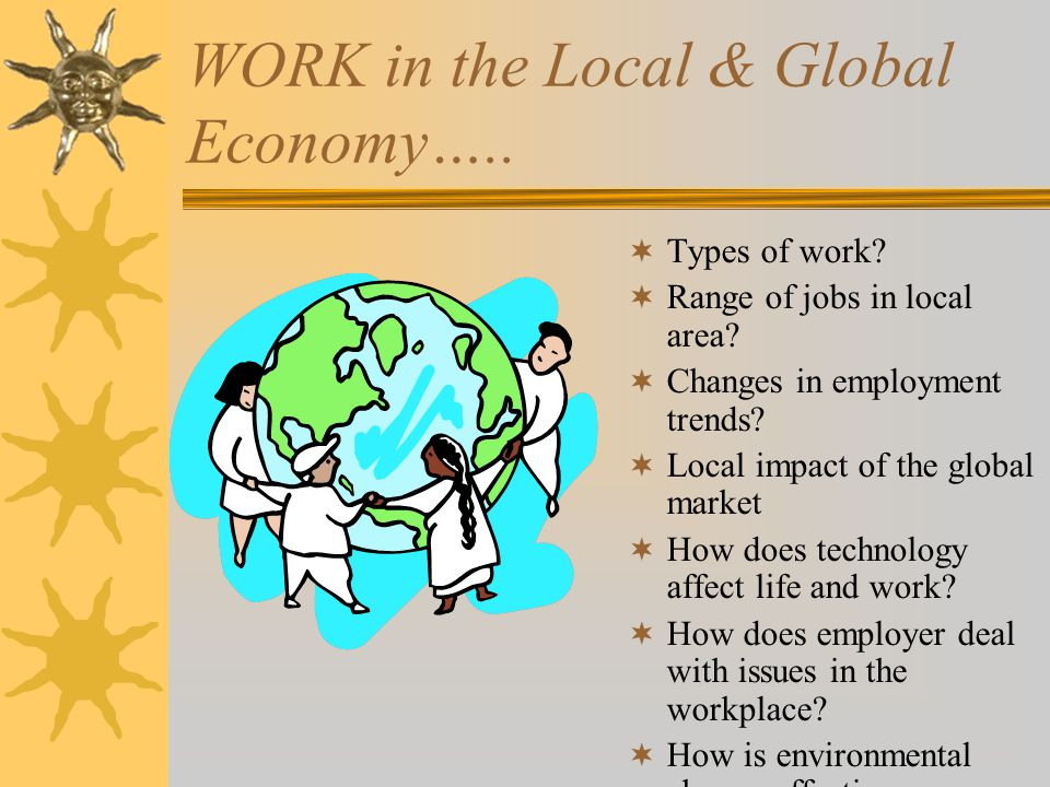 WORK in the Local & Global Economy…..