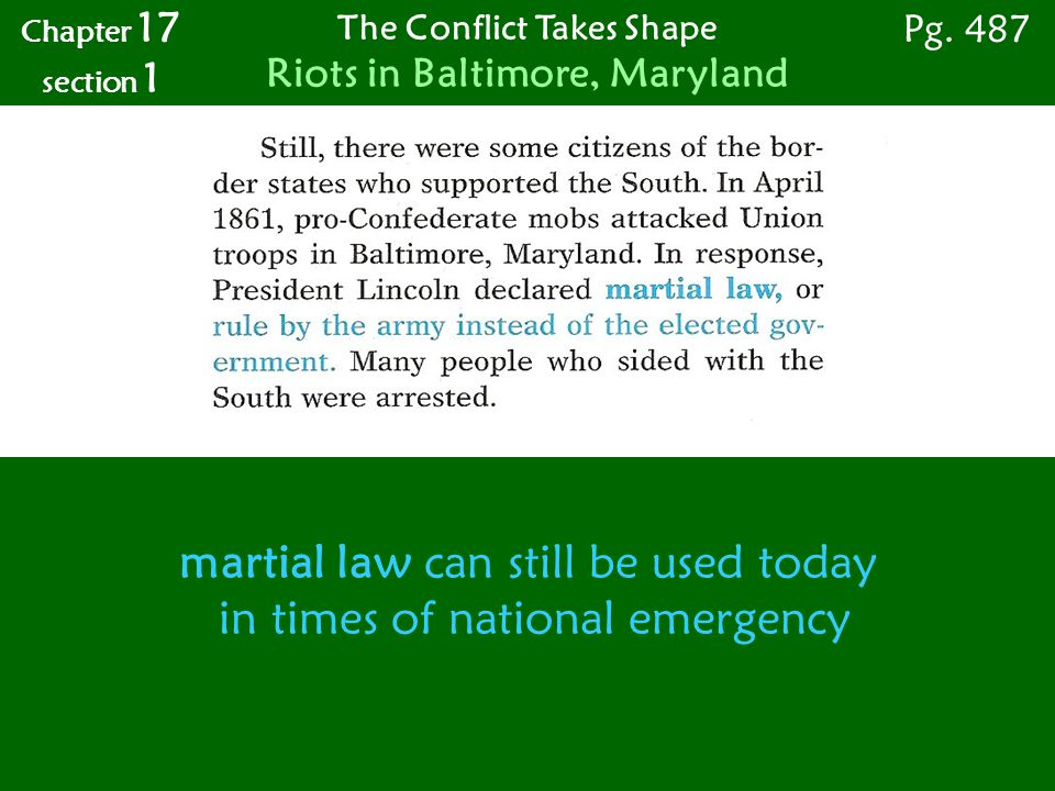 The Conflict Takes Shape Riots in Baltimore, Maryland