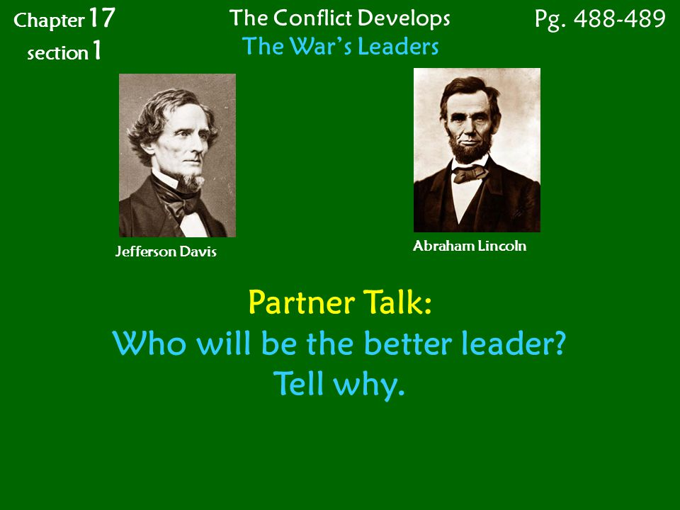 Who will be the better leader