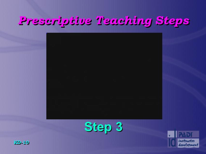 Prescriptive Teaching Steps