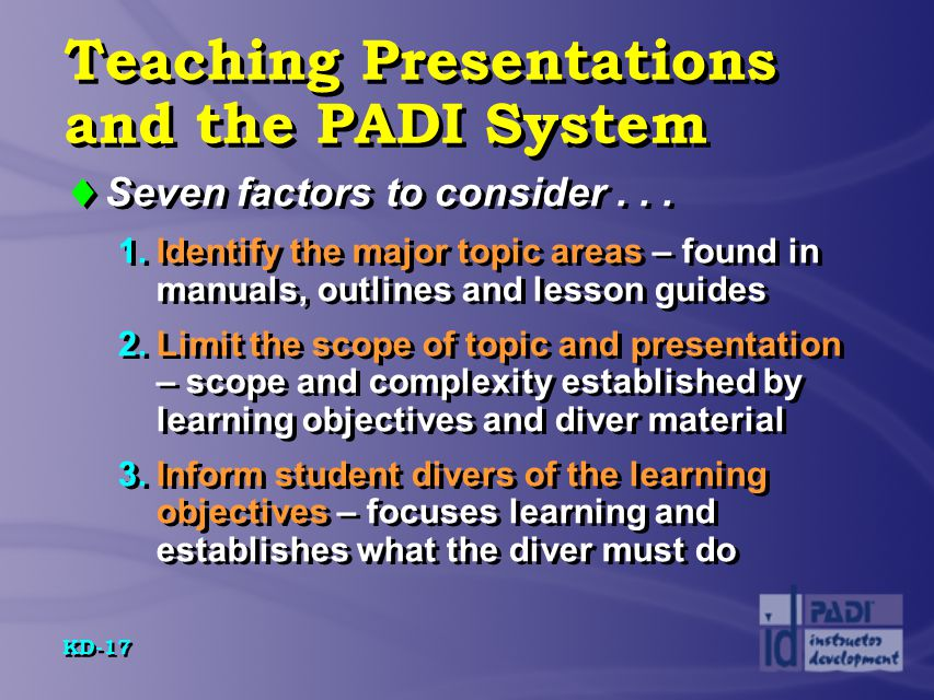 developing knowledge development presentations ppt video online  teaching presentations and the padi system