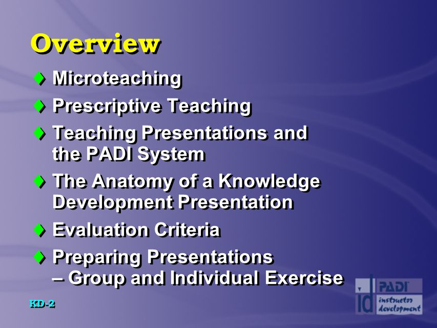 Overview Microteaching Prescriptive Teaching