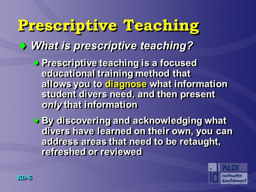 Prescriptive Teaching
