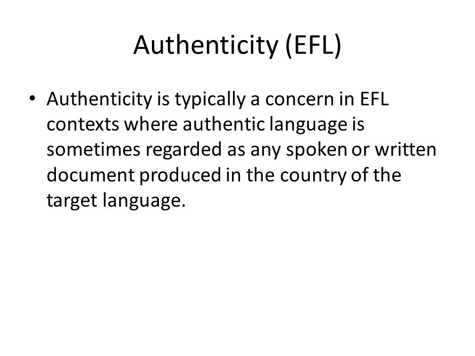 Authenticity (EFL)