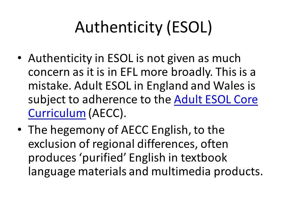 Authenticity (ESOL)