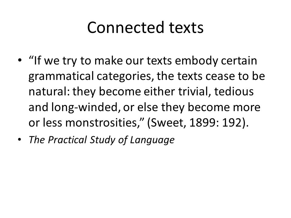Connected texts