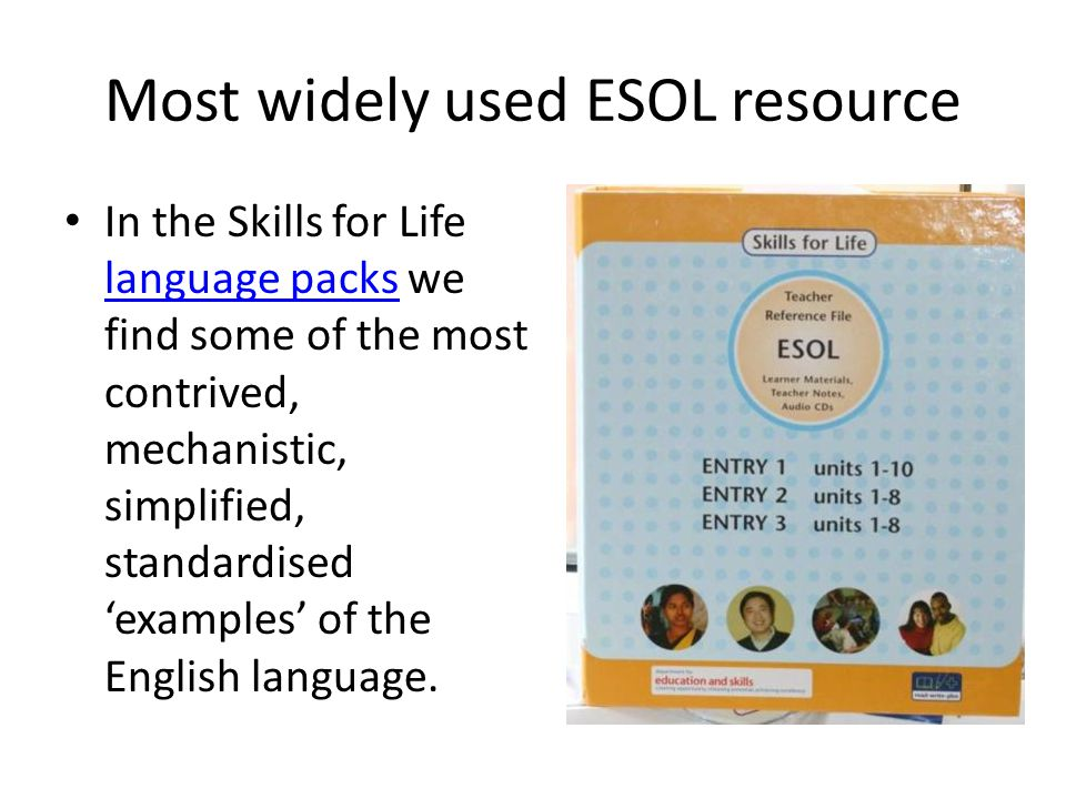 Most widely used ESOL resource