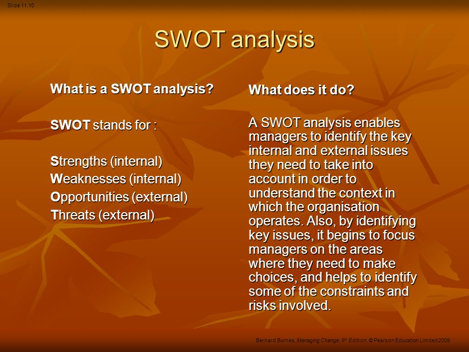 SWOT analysis What is a SWOT analysis What does it do