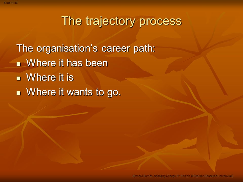 The trajectory process