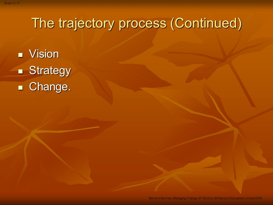 The trajectory process (Continued)