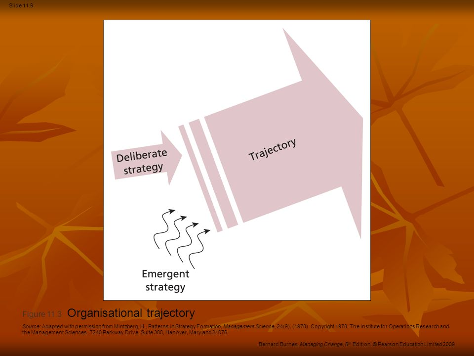Figure 11.3 Organisational trajectory