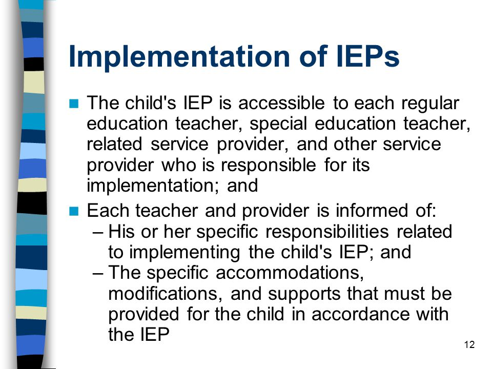Implementation of IEPs