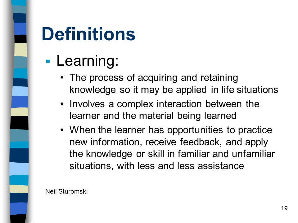 Definitions Learning:
