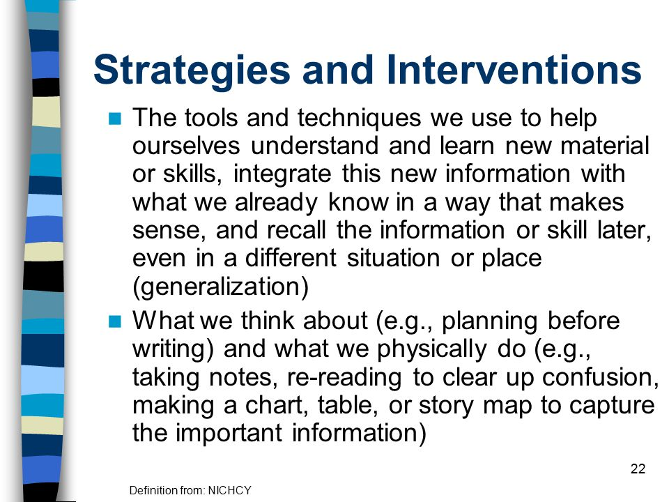 Strategies and Interventions